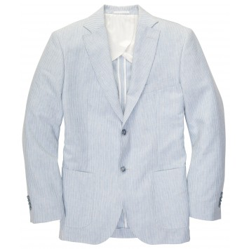 Gentleman's Jacket: Blue/White Stripe